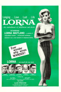 """Movie Posters:Sexploitation, Lorna (Eve Productions, 1964). One Sheet (27"""" X 41"""").. ..."""