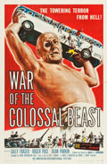 "Movie Posters:Science Fiction, War of the Colossal Beast (American International, 1958). One Sheet(27"" X 41"") Albert Kallis Artwork.. ..."