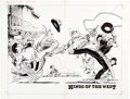 "Original Comic Art:Complete Story, Marc Hempel and Mark Wheatley Jonny Quest #28 Wraparound Cover, Complete 26-Page Story ""Kings of the West"" Origina... (Total: 28 Original Art)"