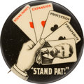 Political:Pinback Buttons (1896-present), Theodore Roosevelt: Classic Stand Pat Picture Pin. ...