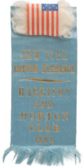 "Political:Ribbons & Badges, Benjamin Harrison: Novel ""Cotton Exchange"" Ribbon...."