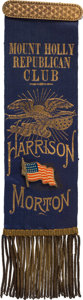 Political:Ribbons & Badges, Benjamin Harrison: Graphic and Bright New Jersey Ribbon....