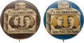 Political:Pinback Buttons (1896-present), McKinley & Roosevelt: Classic Dinner Pail Jugates in Blue and Brown....