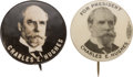 "Political:Pinback Buttons (1896-present), Charles Evans Hughes: Two ""Better"" Picture Pins...."