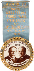 Political:Pinback Buttons (1896-present), Taft & Sherman: Bold Real Photo Jugate for Pennsylvania Convention Delegate....