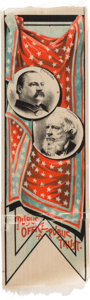 Political:Ribbons & Badges, Cleveland & Thurman: Colorful and Graphic Jugate Ribbon....