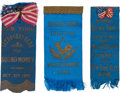 Political:Ribbons & Badges, William McKinley: Three New York Occupational or Trade Ribbons.... (Total: 3 Items)