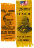 Political:Ribbons & Badges, William McKinley: Two Exceptional Civil War Veteran Ribbons.... (Total: 2 Items)