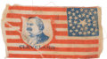 Political:Ribbons & Badges, Grover Cleveland: Miniature Campaign Flag....