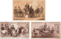 Political:Small Paper (pre-1896), Grover Cleveland et al: Trade Cards Including Portraits of St.John, Butler and Belva Lockwood.... (Total: 3 Items)