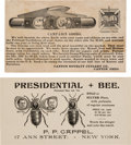 Political:Small Paper (1896-present), 1888 & 1896 Candidates: Two Great Trade Cards for CampaignNovelties. ... (Total: 2 Items)