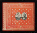 "Political:Textile Display (pre-1896), Cleveland & Thurman: Charming Diminutive 6"" x 5"" ""Bandana""...."