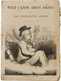 Political:Small Paper (pre-1896), Horace Greeley: A Delightful Satirical Joke Book from the 1872Campaign....