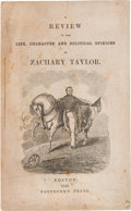 Political:Small Paper (pre-1896), Zachary Taylor: 1848 Campaign Biography Imprint. ...