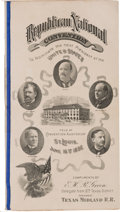 Political:Small Paper (1896-present), 1896 Republican National Convention: A Program of Convention EventsPicturing the Party Hopefuls....