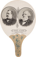 Political:Miscellaneous Political, Cleveland & Thurman: A Jugate Advertising Fan....