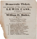 Political:Small Paper (pre-1896), Lewis Cass: A Rare 1848 Massachusetts Electoral Ticket. ...