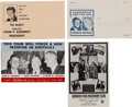 Political:Small Paper (1896-present), John F. Kennedy: Four Outstanding 1960 Postcards. ... (Total: 4 Items)