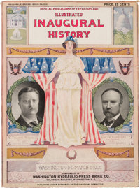 Roosevelt & Fairbanks: Substantial Official Inaugural Program with Multi-color Jugate Cover