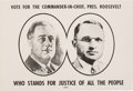 Political:Posters & Broadsides (1896-present), Roosevelt & Truman: Small Jugate Poster with WWII Tie-In....