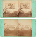 Political:Small Paper (pre-1896), Rutherford B. Hayes and Samuel J. Tilden: Michigan Street BannersStereoviews.... (Total: 2 Items)