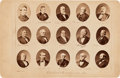 Political:Small Paper (pre-1896), Rutherford B. Hayes and Samuel J. Tilden: Cabinet Photo of the Electoral Commission That Decided The Election Result....