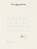 Political:Small Paper (1896-present), Robert F. Kennedy: Autograph Letter Signed Referencing PT-Boat Tie-Clasps....