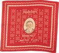 "Political:Textile Display (1896-present), Theodore Roosevelt: 1912 ""Battle Flag"" Bandana...."
