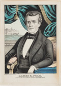 Political:Posters & Broadsides (pre-1896), James K. Polk: A Colorful Portrait Print by Baillie....