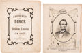 Political:Small Paper (pre-1896), Abraham Lincoln: Two Pieces of Mourning Sheet Music....