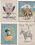 Political:Small Paper (1896-present), Theodore Roosevelt: Four Pieces of Rough Rider Sheet Music....