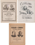 Political:Small Paper (pre-1896), Cleveland & Hendricks and Cleveland & Thurman: Jugate SheetMusic....