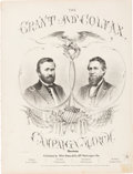 Political:Small Paper (pre-1896), Grant & Colfax: Jugate Sheet Music....