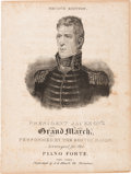 Political:Small Paper (pre-1896), Andrew Jackson: Pictorial Presidential Sheet Music....