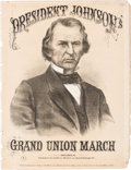 Political:Small Paper (pre-1896), Andrew Johnson: Presidential Sheet Music....