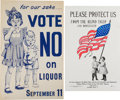 Political:Posters & Broadsides (1896-present), Temperance and Prohibition: Pair of Rare Posters.... (Total: 2Items)