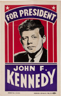 Political:Posters & Broadsides (1896-present), John F. Kennedy: Unusual Cardboard Poster....