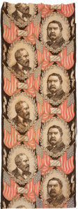 Political:Textile Display (pre-1896), Garfield & Arthur: Jugate Bunting with Three Full Repeats. ...