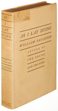 Books:Literature 1900-up, William Faulkner. As I Lay Dying. New York: [1930]. Firstedition....