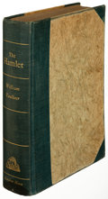 Books:Literature 1900-up, William Faulkner. Hamlet. New York: 1940. First edition,limited to 250 copies and signed....