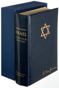 David Ben-Gurion. Israel: A Personal History. New York: [1971]. First edi