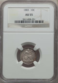 Seated Dimes: , 1883 10C AU55 NGC. NGC Census: (6/441). PCGS Population: (15/537). Mintage 7,674,673. ...