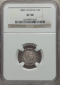 Coins of Hawaii , 1883 10C Hawaii Ten Cents XF40 NGC. NGC Census: (48/318). PCGS Population: (97/484). CDN: $165 Whsle. Bid for problem-free ...