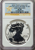 Modern Bullion Coins, 2013-W $1 Reverse Proof Silver Eagle, West Point Mint Set, Early Releases PR70 NGC. NGC Census: (31579). PCGS Population: (...