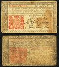 Colonial Notes:New Jersey, New Jersey March 25, 1776 18d Very Fine;. New Jersey March 25, 1776 3s Good-Very Good.. ... (Total: 2 notes)