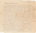 "Books:Literature 1900-up, Jorge Luis Borges. Holograph Manuscript Signed, of an Essay Entitled ""Ensayo de Imparcialidad."" [No place: circa 1944]. Fo..."
