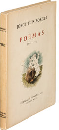 Books:Literature 1900-up, Jorge Luis Borges. Poemas. [1922-1943]. Buenos Aires: Editorial Losada, [1943]. First edition, a significant a...