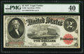 Large Size:Legal Tender Notes, Fr. 60 $2 1917 Legal Tender PMG Extremely Fine 40....