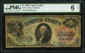 Large Size:Legal Tender Notes, Fr. 18 $1 1869 Legal Tender PMG Good 6 Net. Re...