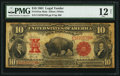 Large Size:Legal Tender Notes, Fr. 121 $10 1901 Mule Legal Tender PMG Fine 12 Net.. ...